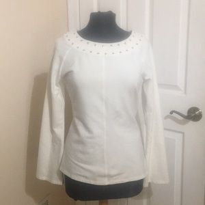 Michael Kors white with silver studs Top